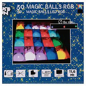 Luce di Natale 30 balocchi multicolori esterno flash control unit 11,6 m s10