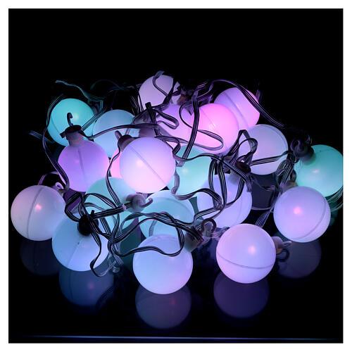 Luce di Natale 30 balocchi multicolori esterno flash control unit 11,6 m 7