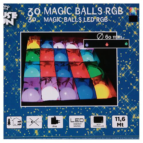 Luce di Natale 30 balocchi multicolori esterno flash control unit 11,6 m 10