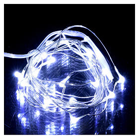 20 drop Christmas LEDs light in white, battery powered s1