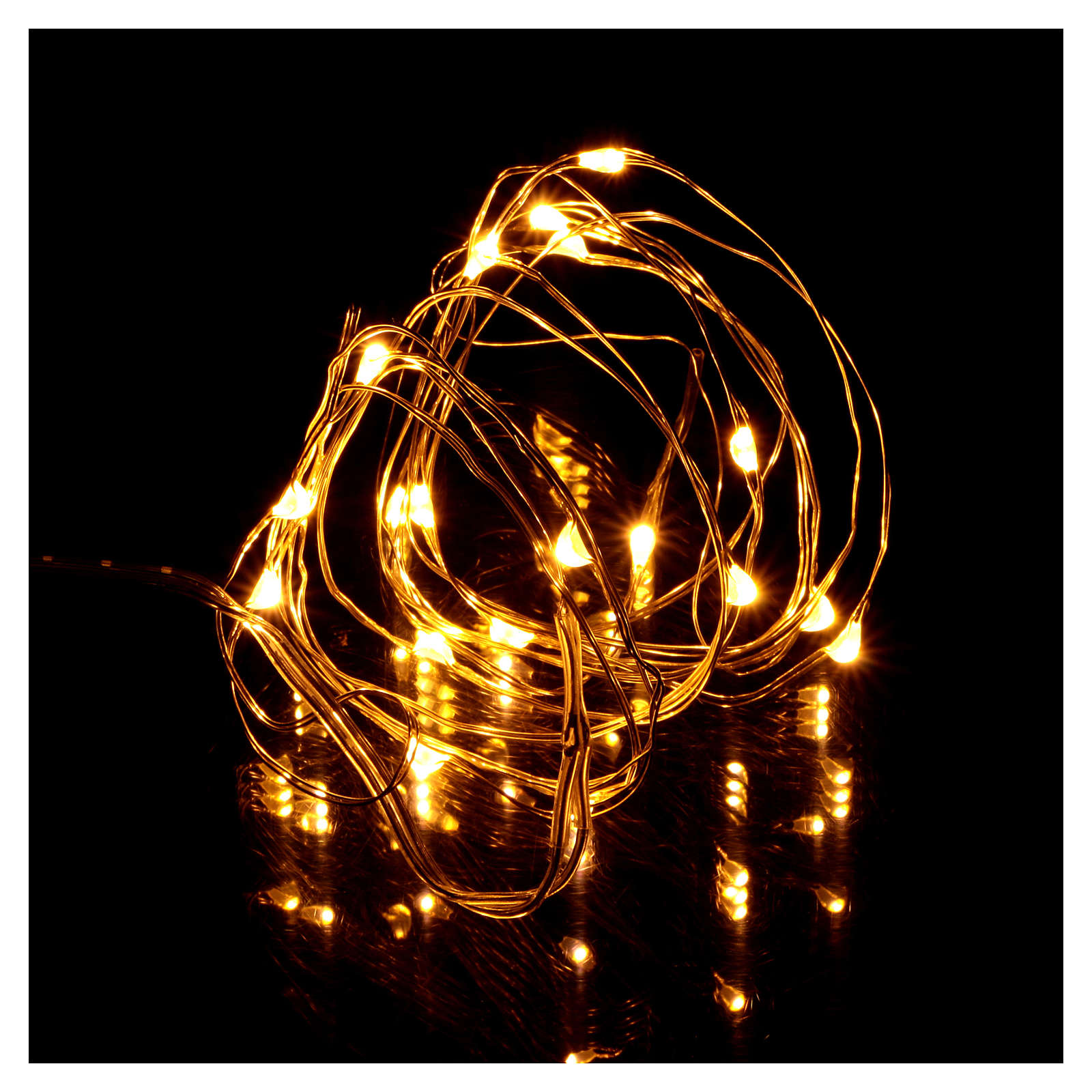 Christmas string lights, 20 warm white LEDs battery operated 3