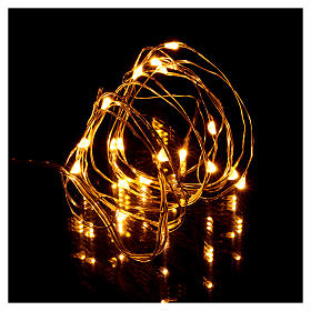 Christmas string lights, 20 warm white LEDs battery operated s2