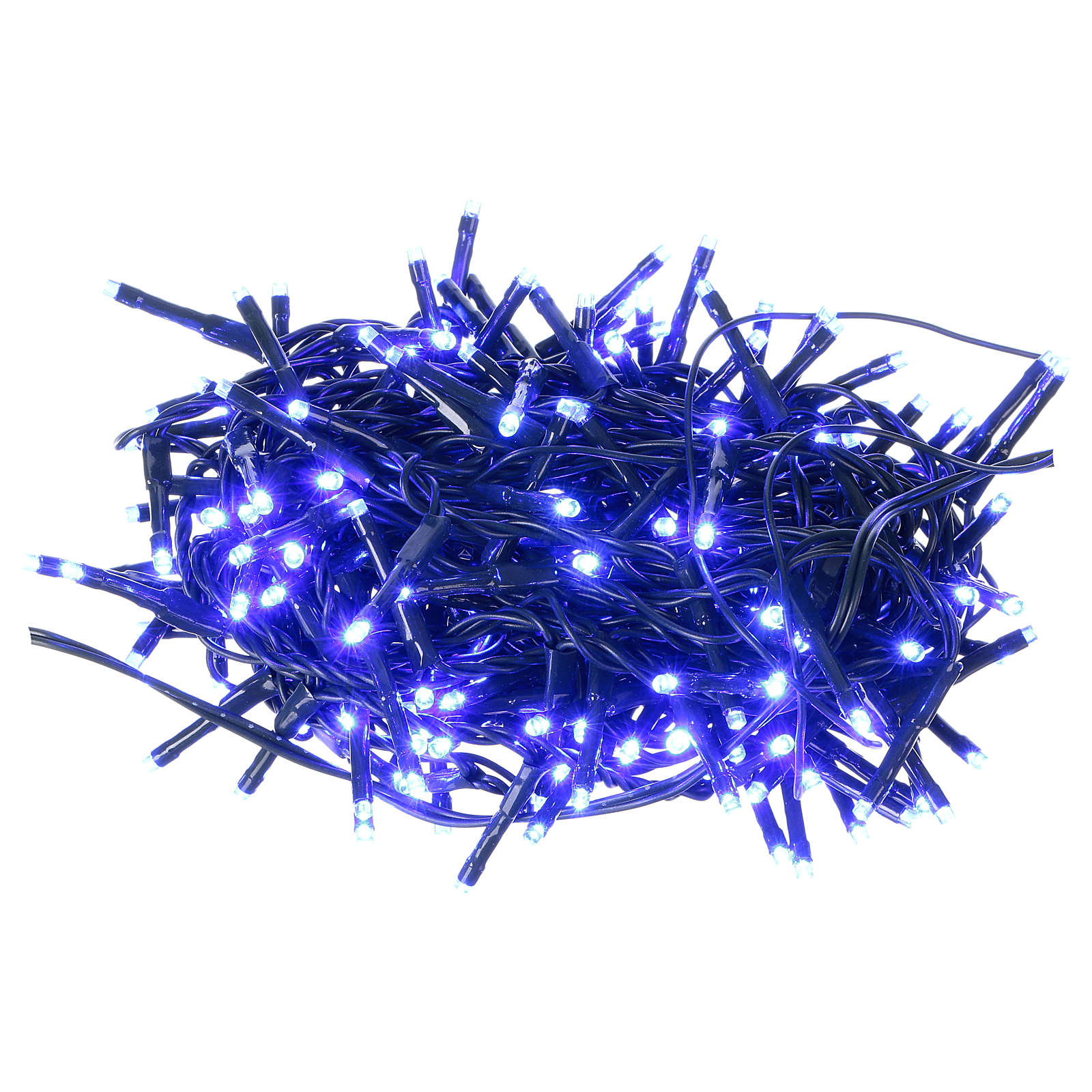 Christmas lights green wire 192 blue LEDS with flash control unit 8 m 3