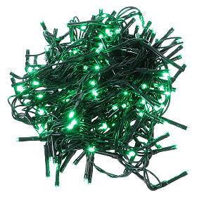 Christmas string lights 192 green LEDS with control unit 8 m s1