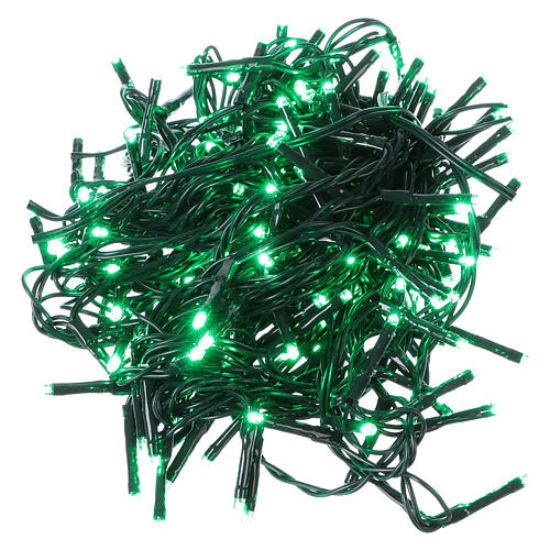 Christmas string lights 192 green LEDS with control unit 8 m 1