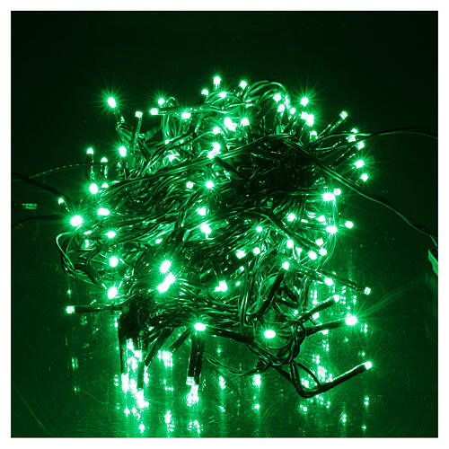 Christmas string lights 192 green LEDS with control unit 8 m 2