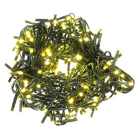 Luz Navideña cadena verde 192 led amarillos exterior flash control unit 8 m s1
