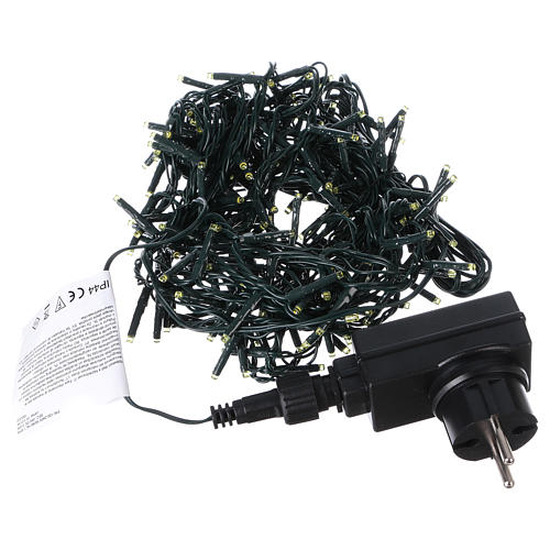 Christmas lights 192 yellow LEDs with control unit 8 m 3