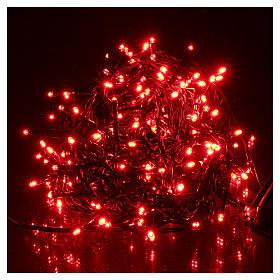 Luz Navideña cadena verde 192 led rojos exterior flash control unit 8 m s2