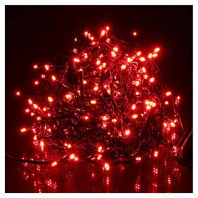 Luce Natalizia catena verde 192 led rossi esterni flash control unit 8 m s1