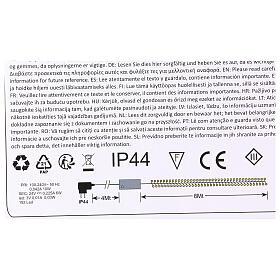 Luce Natalizia catena verde 192 led rossi esterni flash control unit 8 m s3