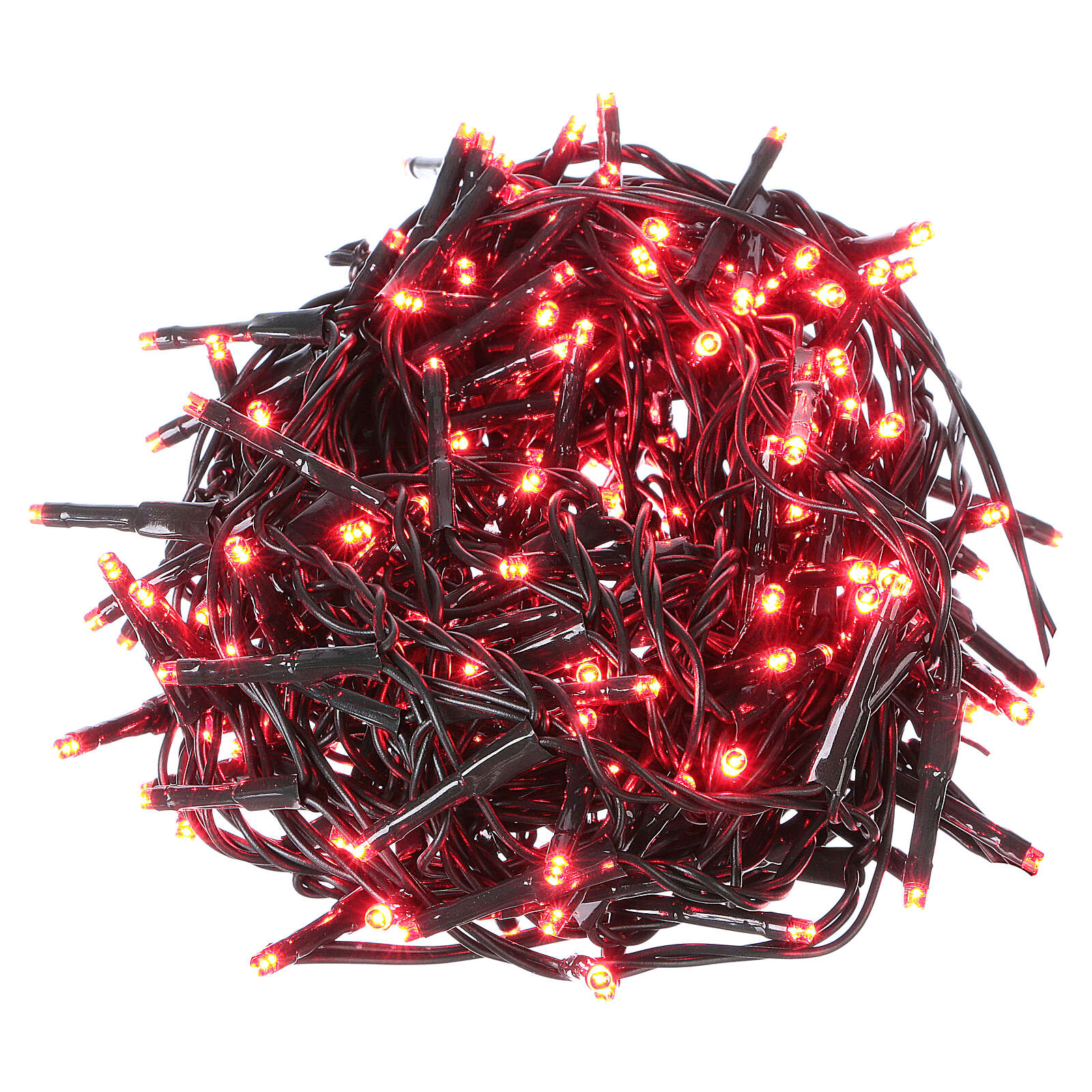 Christmas lights green wire, 192 red LEDs with flash control unit 8 m 3