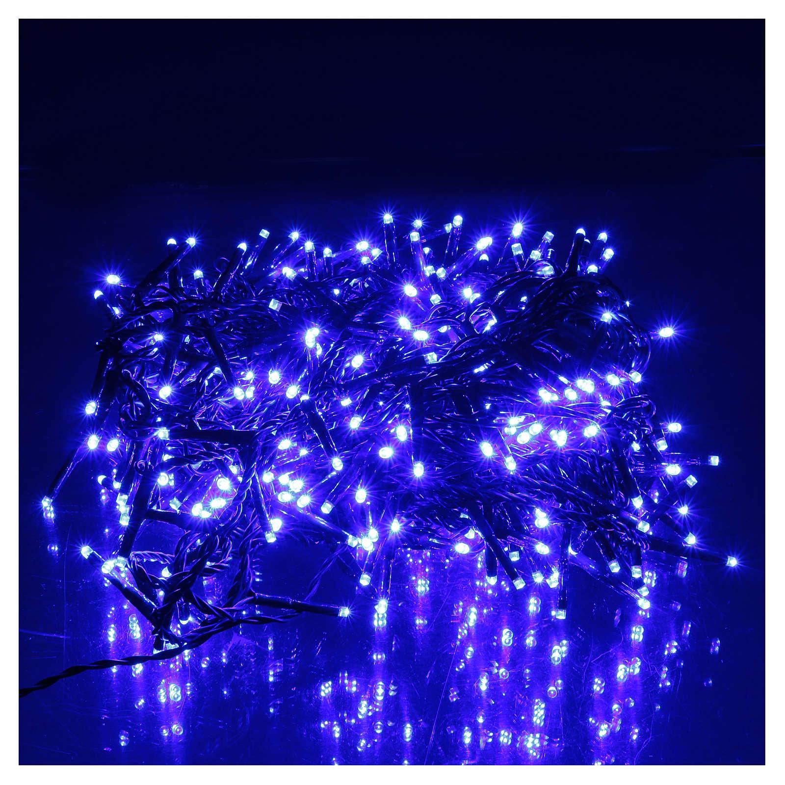 Luce Natalizia catena verde 400 led blu esterni flash control unit 8 m 3