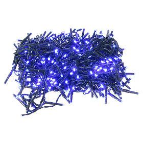Luce Natalizia catena verde 400 led blu esterni flash control unit 8 m s1