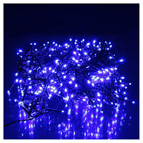 Luce Natalizia catena verde 400 led blu esterni flash control unit 8 m s2