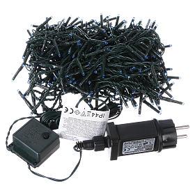 Luce Natalizia catena verde 400 led blu esterni flash control unit 8 m s3