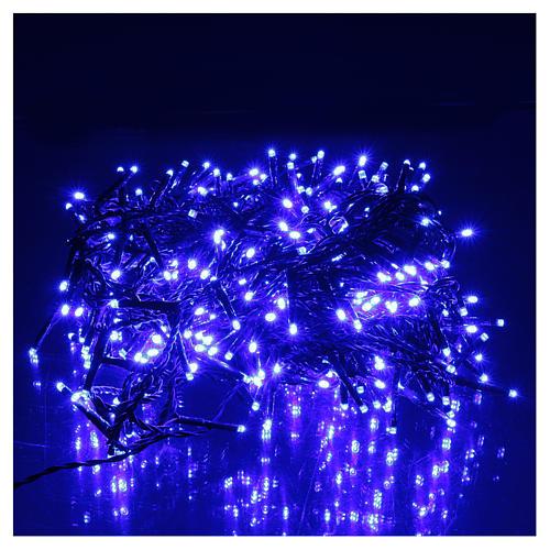 Luce Natalizia catena verde 400 led blu esterni flash control unit 8 m 2