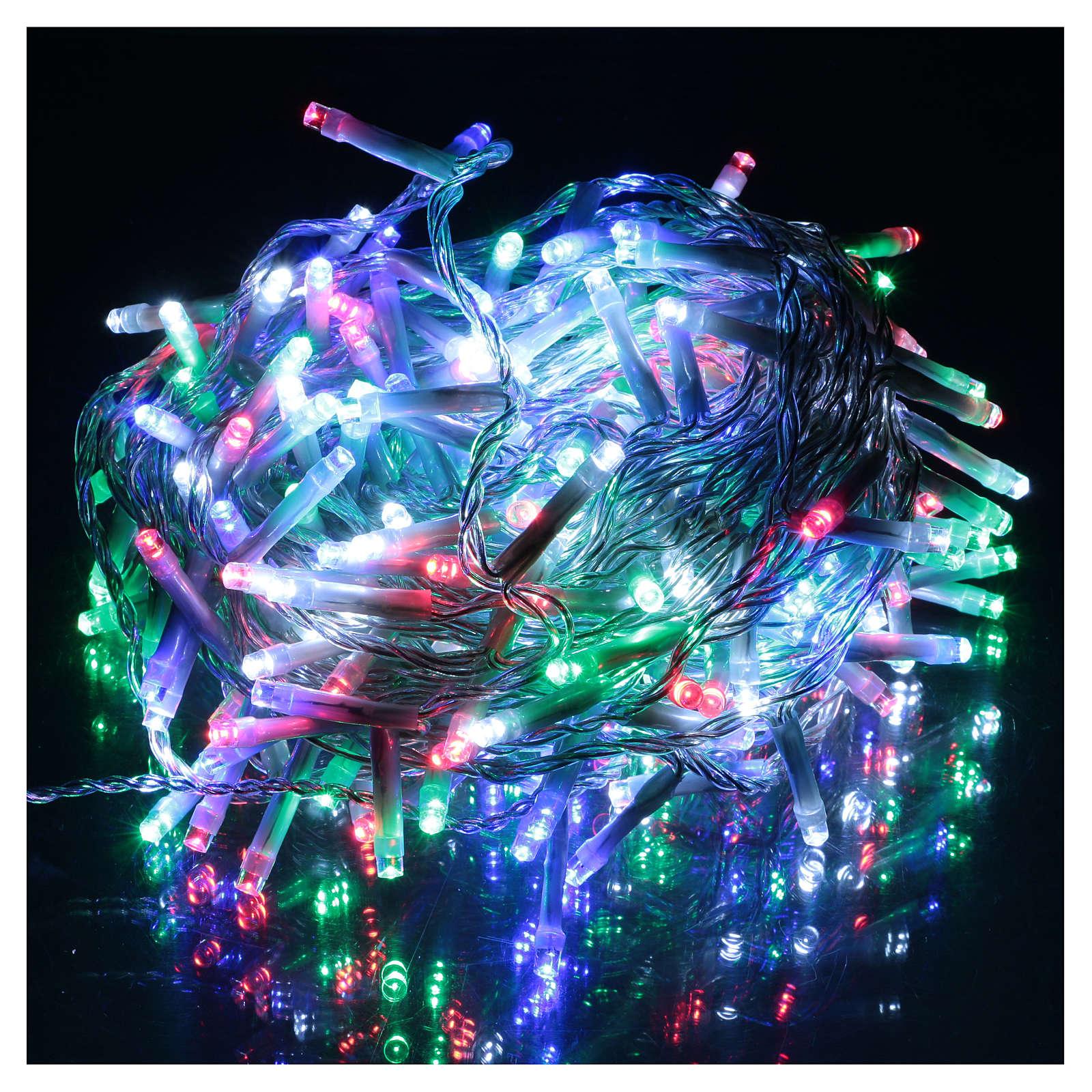 Luce Natalizia catena 240 led multicolori esterni interruttore 12 m 3