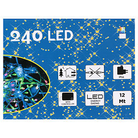 Christmas string lights, 240 multicolor LEDs with external switch 12 m s4