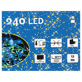 Christmas string lights, 240 multicolor LEDs with external switch 12 m s3
