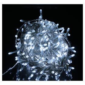 Luce Natalizia catena 240 led bianchi esterni interruttore 12 m s2