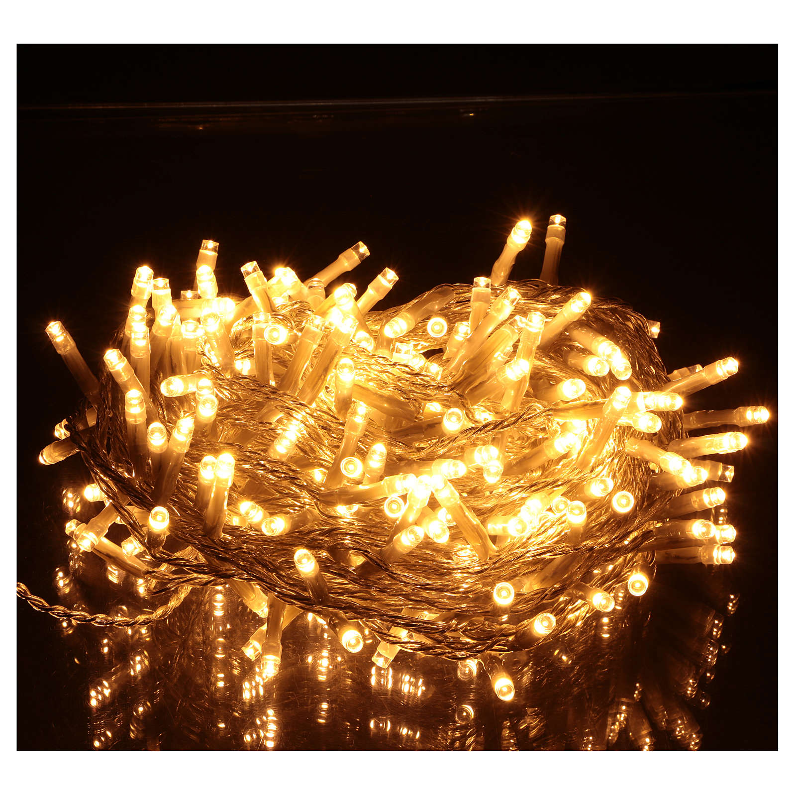 Christmas string lights, 240 warm white LEDs with external switch 12 cm 3