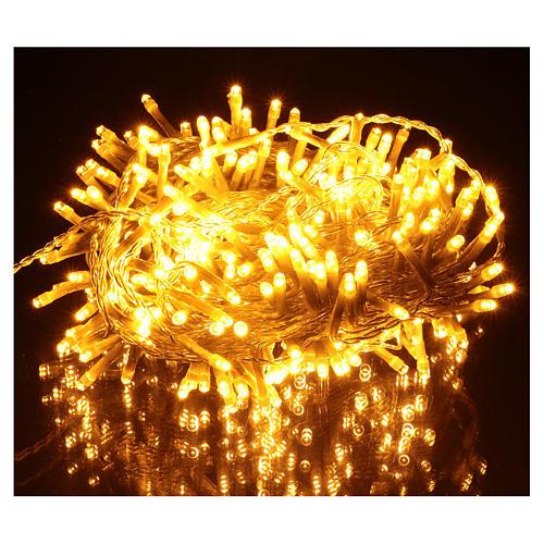 Luce Natalizia catena 320 led bianchi caldi esterni interruttore 16 m 2