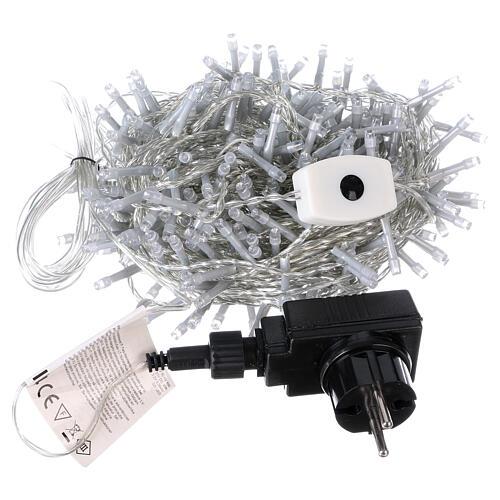 Luce Natalizia catena 320 led bianchi esterni interruttore 16 m 3