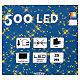 Luz de Navidad cadena 500 led multicolores exterior interruptor 25 m s3