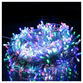Guirlande Noël chaîne 500 Leds multicolores extérieur interrupteur 25 m s2