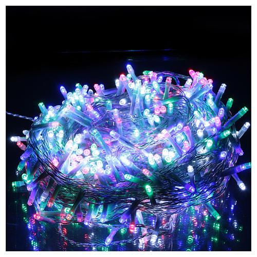 Guirlande Noël chaîne 500 Leds multicolores extérieur interrupteur 25 m 2