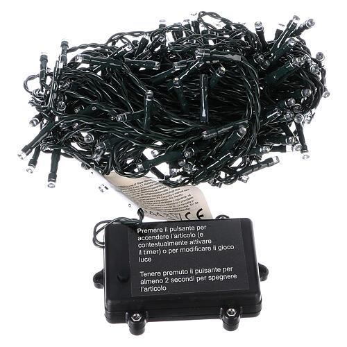 Luce di Natale catena 160 led bianchi esterni batterie 16 m 5