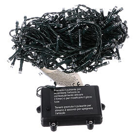Battery operated Christmas string lights, 160 white LEDs 16 m s5