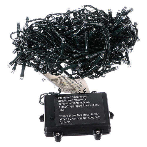 Battery operated Christmas string lights, 160 white LEDs 16 m 5