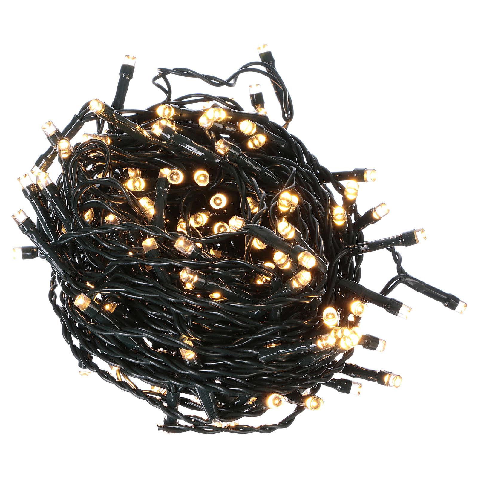 Luce di Natale catena 160 led bianchi caldi esterni batterie 16 m 3