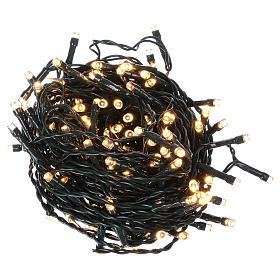 Luce di Natale catena 160 led bianchi caldi esterni batterie 16 m s1