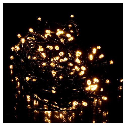 Luce di Natale catena 160 led bianchi caldi esterni batterie 16 m 2