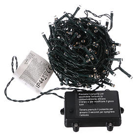 Battery powered Christmas lights, 160 warm white LEDs 16 m s3