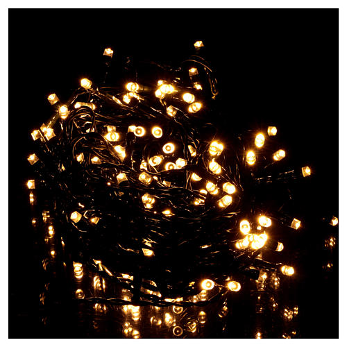 Battery powered Christmas lights, 160 warm white LEDs 16 m 2