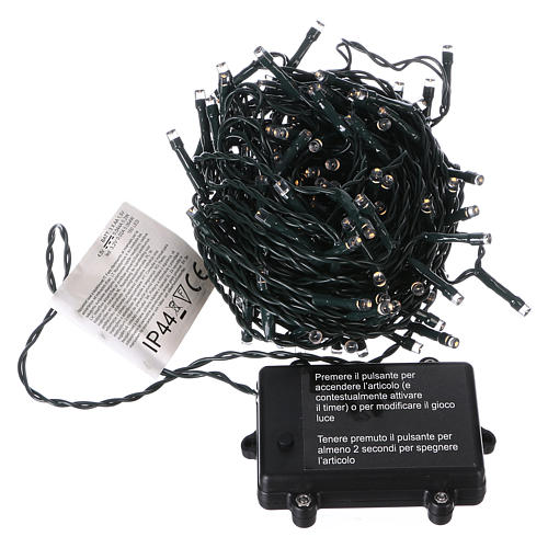 Battery powered Christmas lights, 160 warm white LEDs 16 m 3