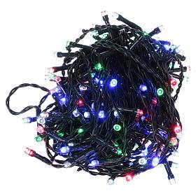Pisca-pisca cabo verde 160 LED multicores para exterior pilhas 16 m s1