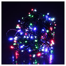 Pisca-pisca cabo verde 160 LED multicores para exterior pilhas 16 m s2