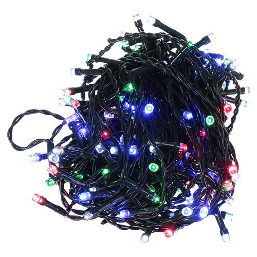 Pisca-pisca cabo verde 160 LED multicores para exterior pilhas 16 m 1