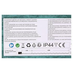 Luce Natalizia catena verde 100 led multicolori esterni batterie 10 m s5
