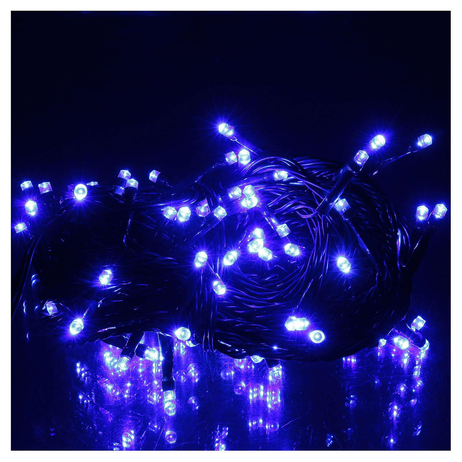 Luce Natalizia catena verde 100 led blu esterni batterie 10 m 3
