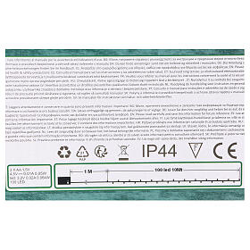 Luce Natalizia catena verde 100 led blu esterni batterie 10 m s5