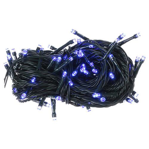 Luce Natalizia catena verde 100 led blu esterni batterie 10 m 1