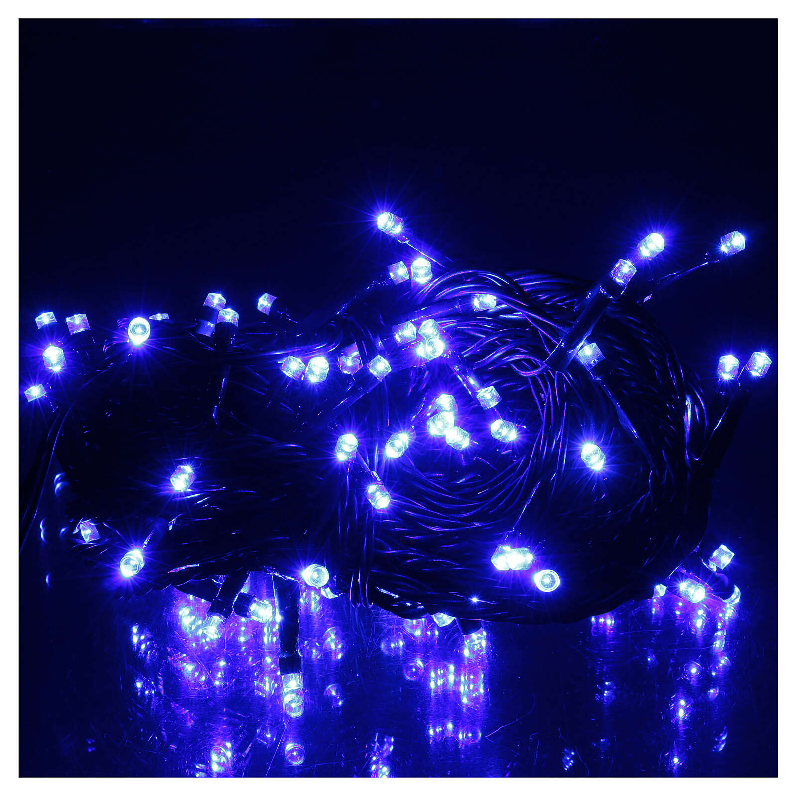 Battery operated Christmas string lights, 100 blue LEDs 10 m 3