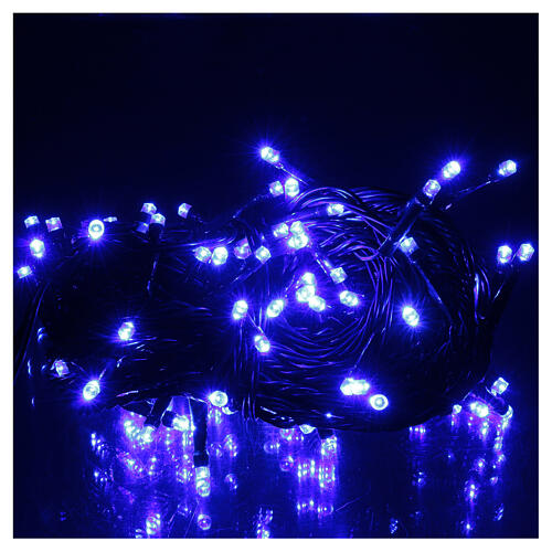 Battery operated Christmas string lights, 100 blue LEDs 10 m 2