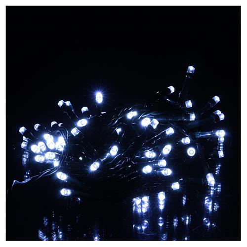 Luce di Natale catena verde 60 led bianchi esterni batterie 6 m 2